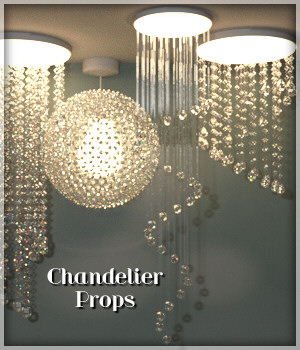 Chandelier Prop Set for DAZ Studio 4.8 and above 3D Models Lully