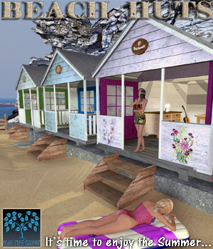 Beach Huts 3D Models BlueTreeStudio