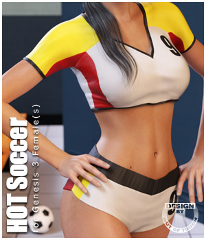 HOT Soccer for Genesis 3 Female(s) 3D Figure Essentials outoftouch