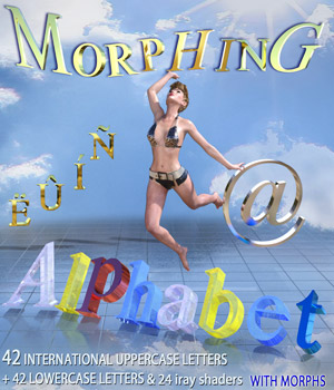 MORPHING ALPHABET for DAZ Studio 3D Models Mar3D