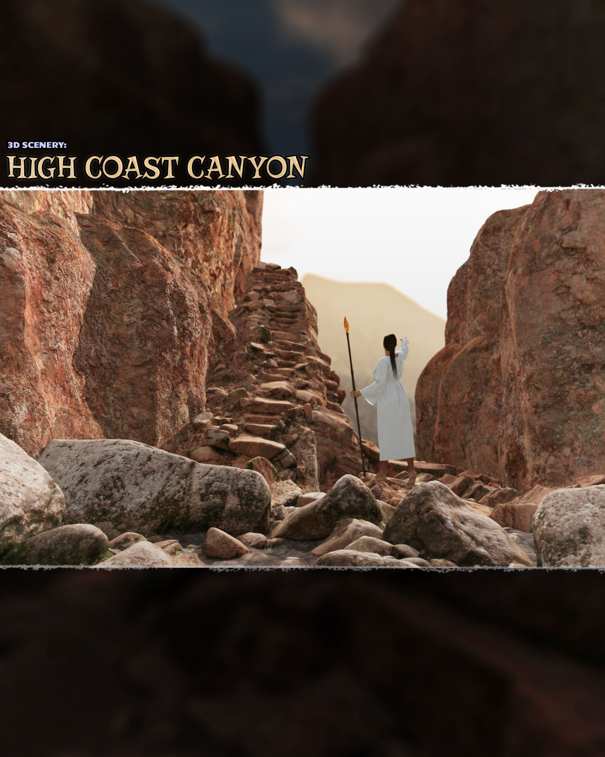 3d scenery: high coast canyon 3d models shaaramuse3d