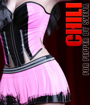 Chili for Pepper for Genesis 3 Female(s) 3D Figure Assets lilflame