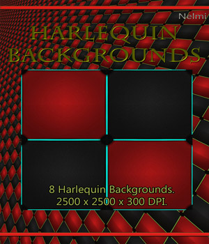 MR: 8 Harlequin Backgrounds 2D Merchant Resources nelmi
