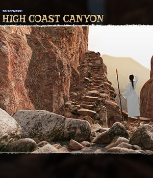 3D Scenery: High Coast Canyon  - Extended License 3D Models Extended Licenses ShaaraMuse3D
