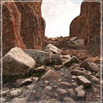 3D Scenery: High Coast Canyon  - Extended License image 4