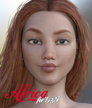 Africa for G3F 3D Figure Assets Anain