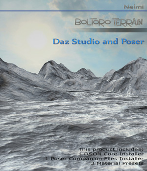 Boltoro Terrain  for Daz Studio and Poser - Extended License 3D Models Extended Licenses nelmi
