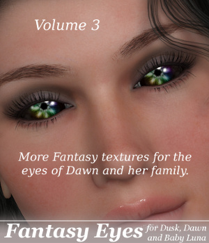 ML Fantasy Eyes Vol.3 for Dawn, Dusk & Baby Luna 3D Figure Assets Mirella