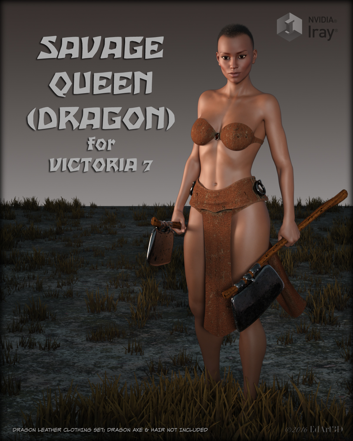 Savage Queen Dragon for Victoria 7 by EdArt3D