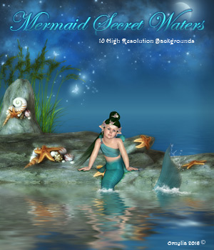 Mermaid Secret Waters 2D Graphics ornylia
