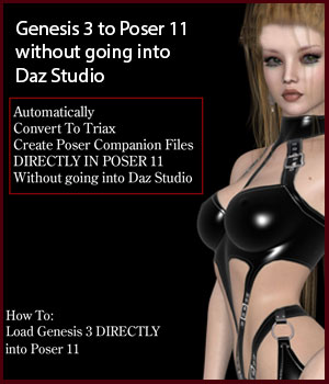 Genesis 3 to Poser 11 without going into Daz Studio Tutorials lululee
