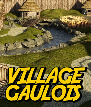 Village Gaulois for DS Iray 3D Models powerage