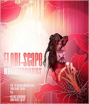 FLORI-SCAPE Backgrounds 2D Graphics RajRaja