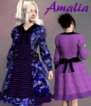 Amalia Clothing Set for G3 3D Figure Assets chasmata