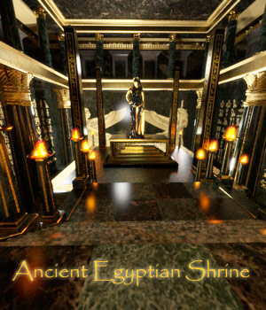 AJ Ancient Egyptian Shrine 3D Models -AppleJack-