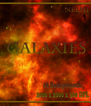 10 Galaxies Backgrounds 2D Graphics nelmi
