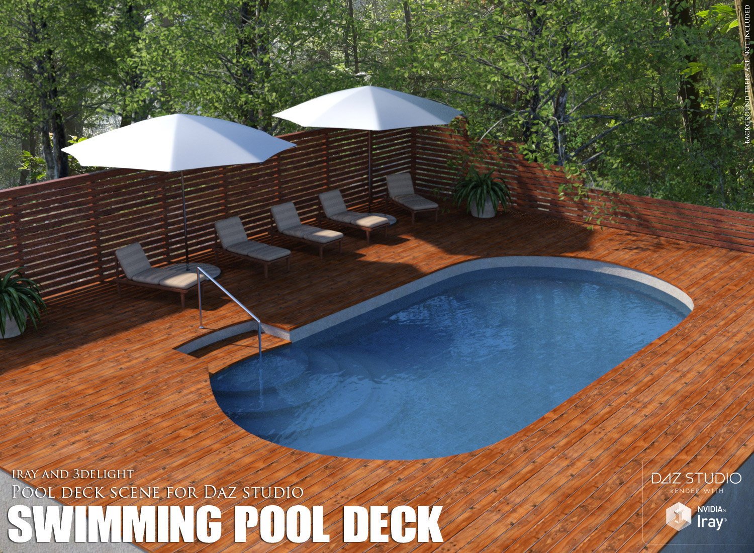 Swimming pool deck 3d models lilflame for Swimming pool deck