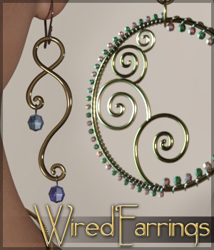 SV's Wired Earrings for Genesis 3 Female(s) 3D Figure Essentials Sveva