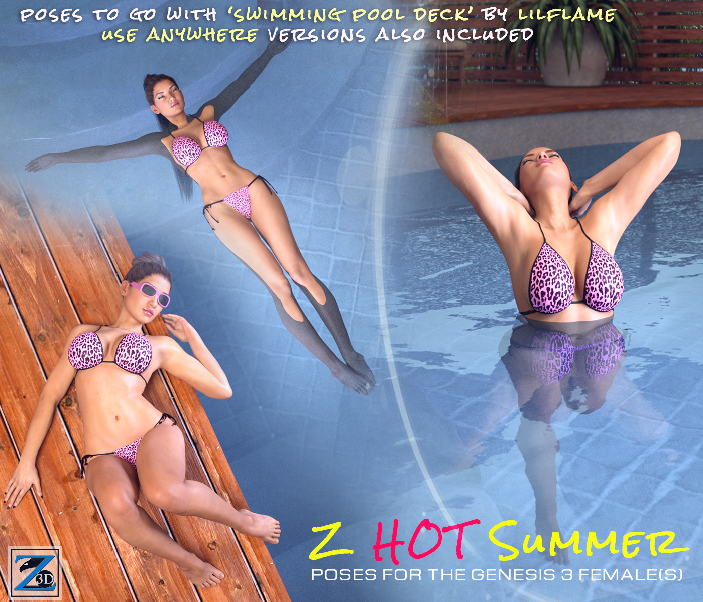 Z Hot Summer - Poses for the Genesis 3 Female(s)