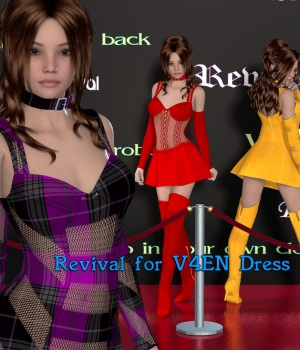 Revival for V4EN Dress 3D Figure Assets JudibugDesigns