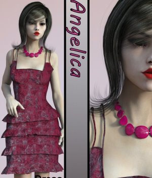 Angelica Dress for Genesis 3 Female 3D Figure Assets chasmata