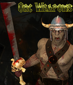 Orc Weapons 3D Models Cybertenko