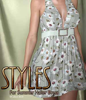 Styles For Summer Halter Dress 3D Figure Assets Calico