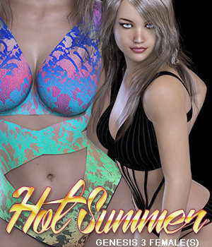 Hot Summer Genesis 3 Female(s) 3D Figure Assets RainbowLight