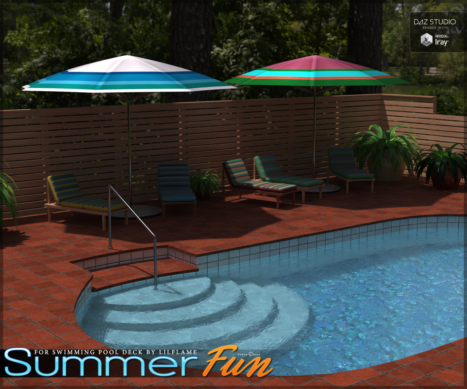 Summer Fun for Swimming Pool Deck