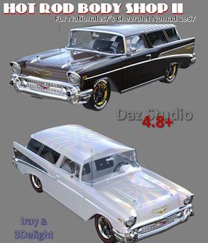 Hot Rod Body Shop Series 2 for Nationale7 Chevrolet Nomad 3D Models freeone1