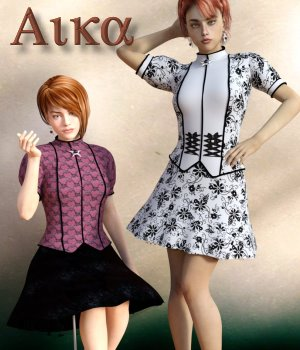 Aika Dress and Earrings for Genesis 3 Female 3D Figure Essentials chasmata