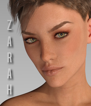 Zarah for G3F 3D Figure Assets xtrart-3d