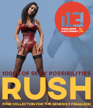 i13 RUSH Organized Pose Collection 3D Figure Assets ironman13