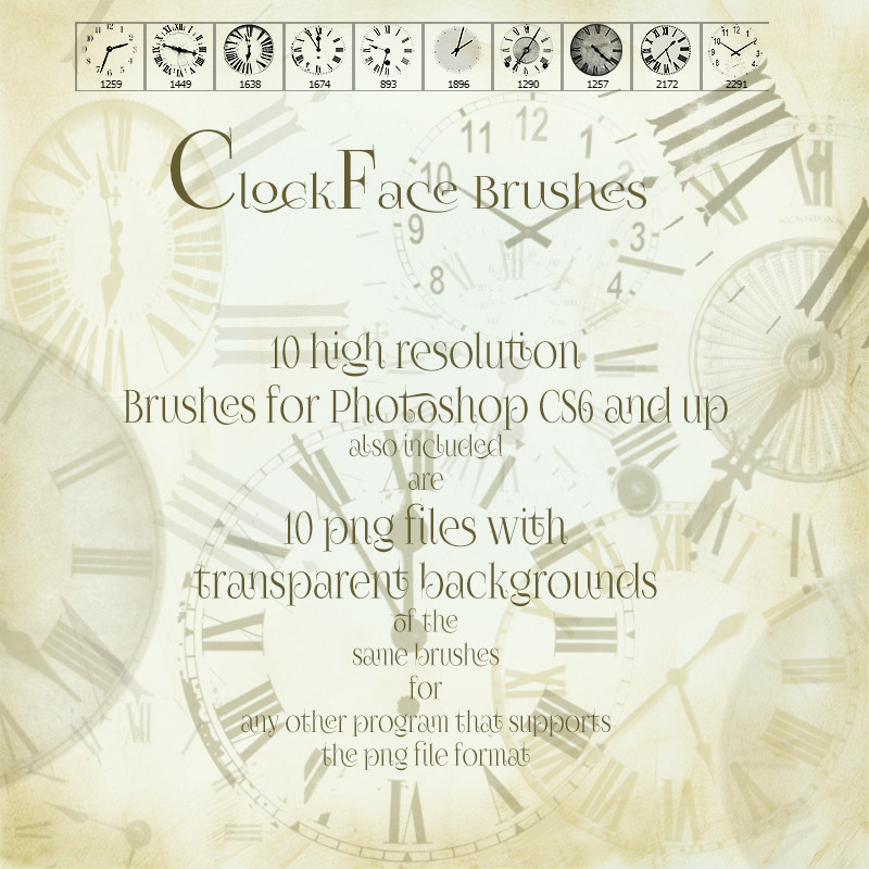 Clockface Brushes