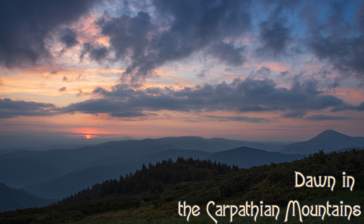 Dawn in the Carpathian Mountains by 1971s