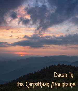 Dawn in the Carpathian Mountains 2D Graphics 1971s