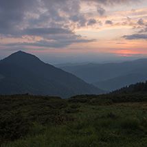 Dawn in the Carpathian Mountains image 1
