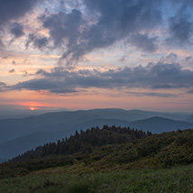 Dawn in the Carpathian Mountains image 2