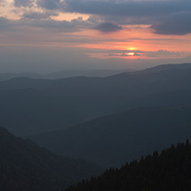 Dawn in the Carpathian Mountains image 3
