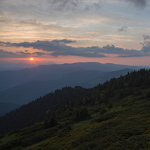 Dawn in the Carpathian Mountains image 4