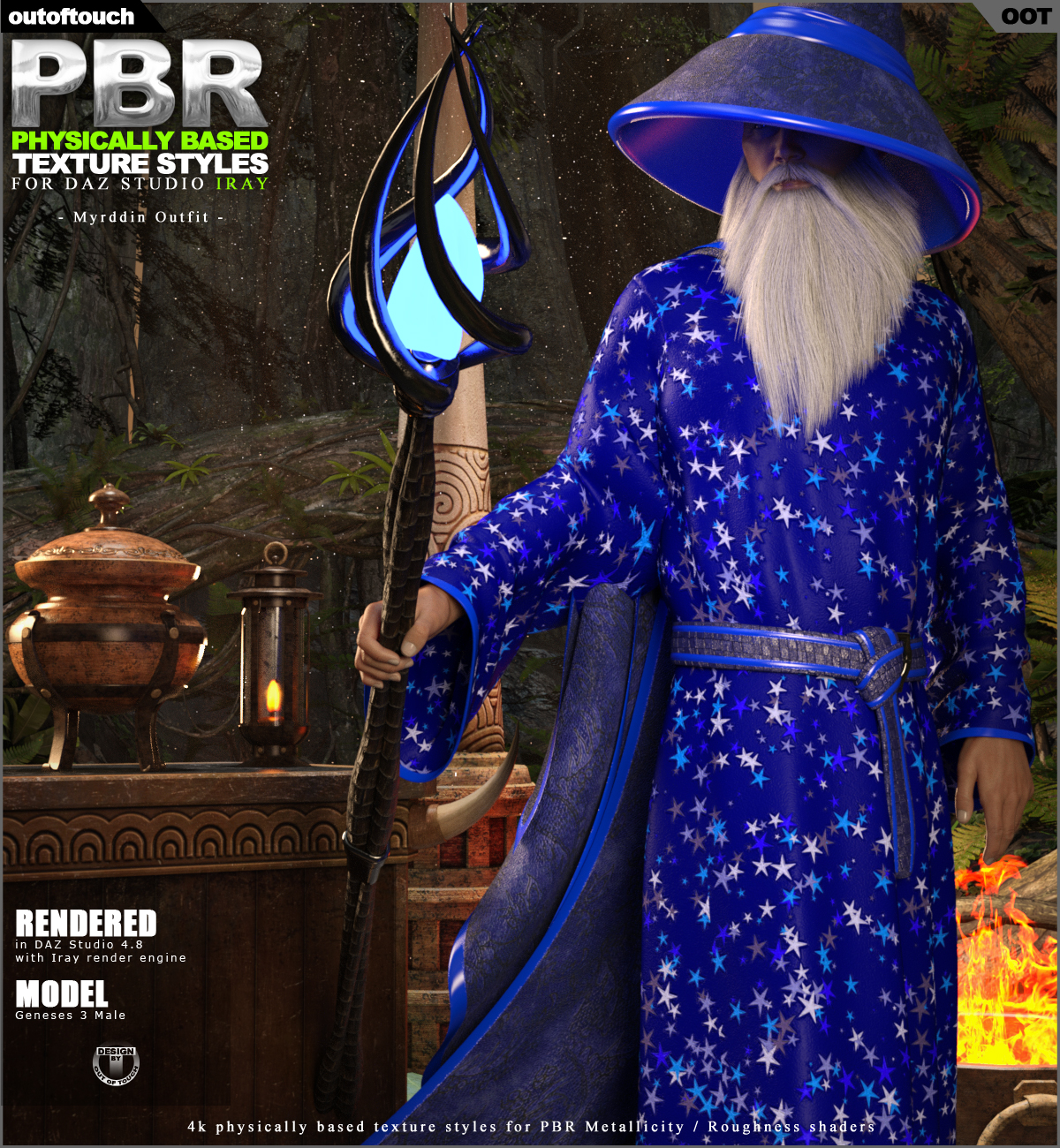 OOT PBR Texture Styles for Myrddin Outfit