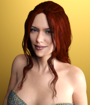Dahlia Hair for Genesis 3 Female(s) 3D Figure Assets Toyen