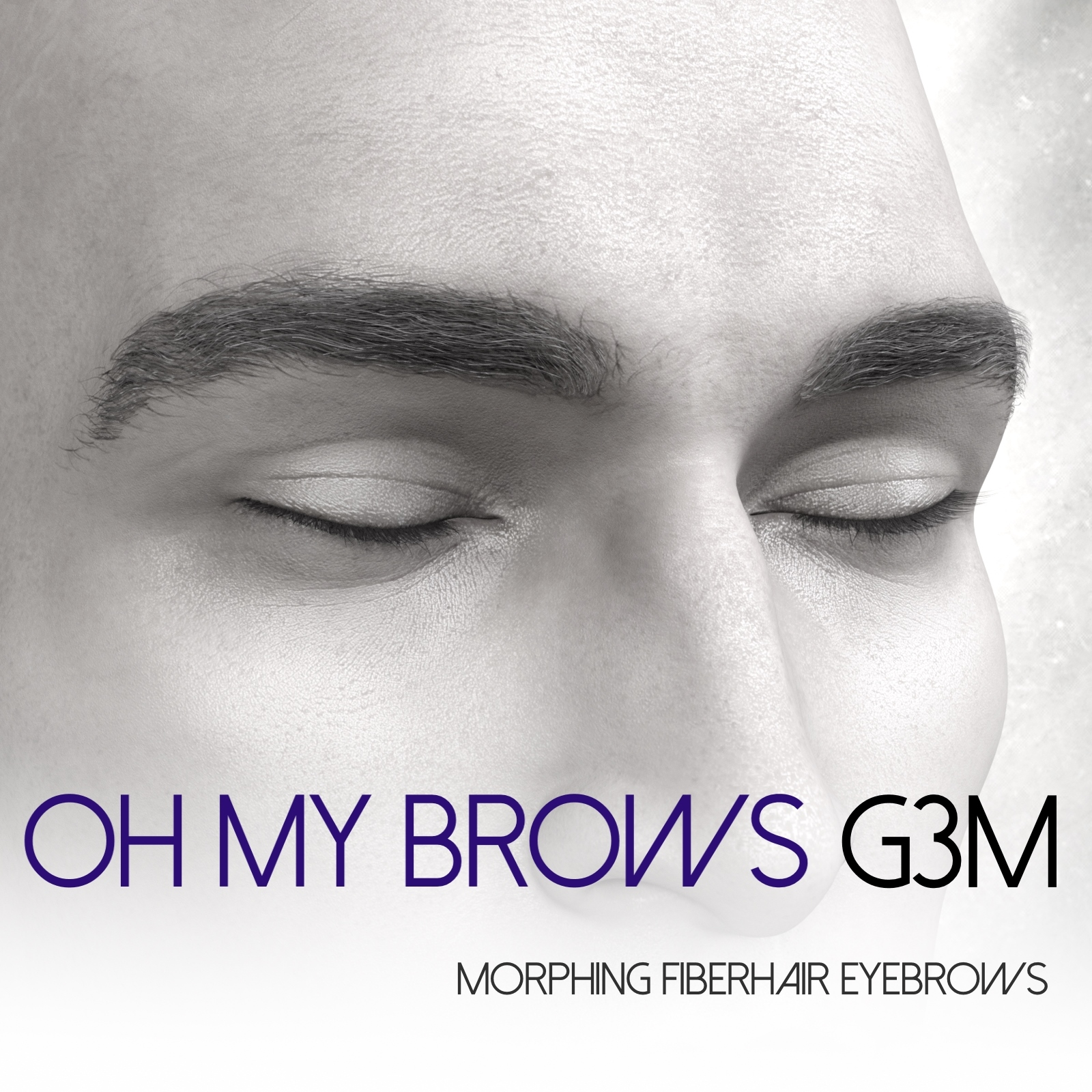 Oh My Brows Morphing Eyebrows for Genesis 3 Male