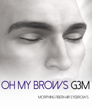 Oh My Brows Morphing Eyebrows for Genesis 3 Male 3D Figure Assets RedzStudio