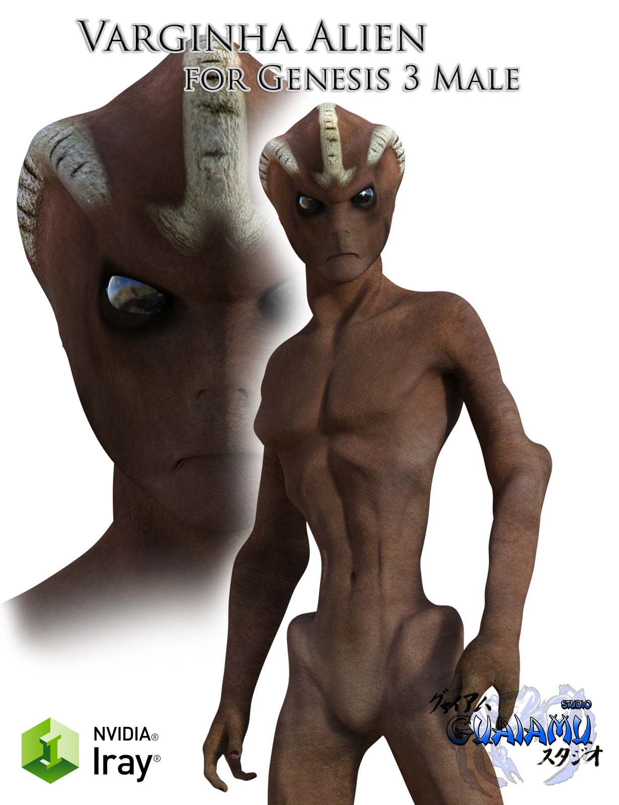Varginha Alien for Genesis 3 male by guaiamustudio