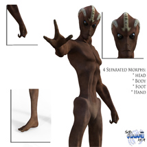 Varginha Alien for Genesis 3 male image 1