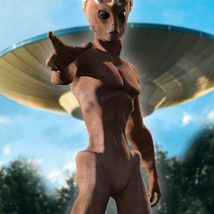 Varginha Alien for Genesis 3 male image 4