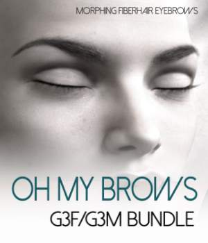 Oh My Brows BUNDLE Morphing Eyebrows for G3F and G3M 3D Figure Assets RedzStudio