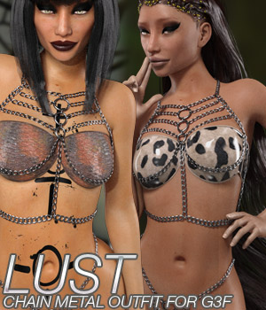 LUST - Chain Metal Outfit 3D Figure Essentials Anagord