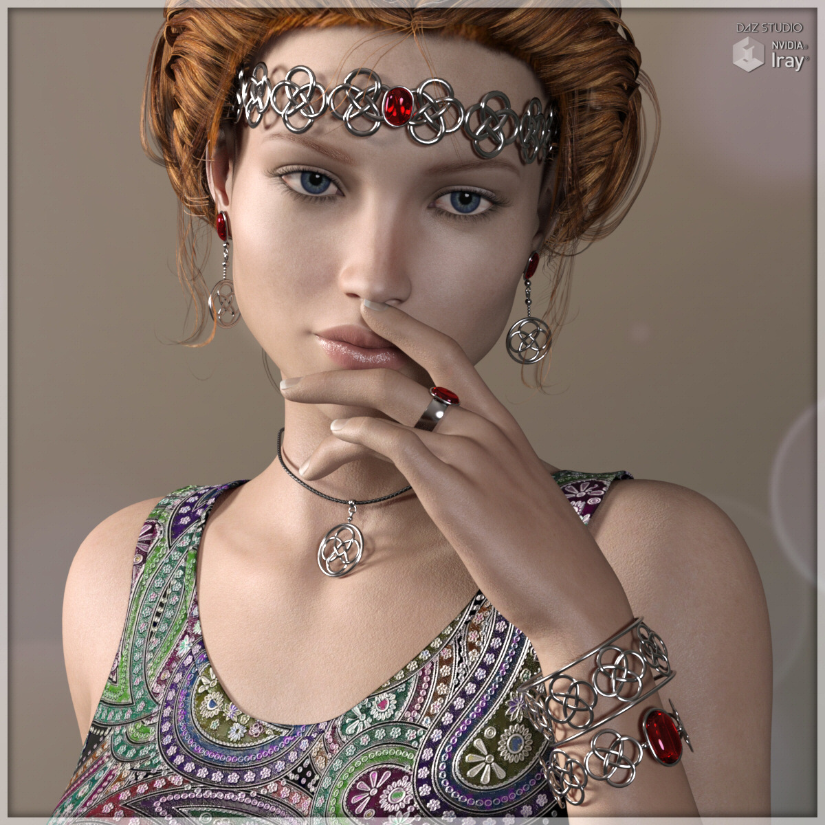 Celtic Jewels for Genesis 3 Female by Lully